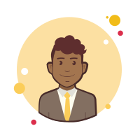 Man With Yellow Tie in Jacket icon