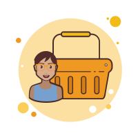 Orange Shopping Basket icon