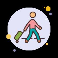 Voyageur avec bagages icon