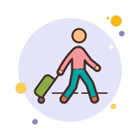Pasajero con equipaje icon