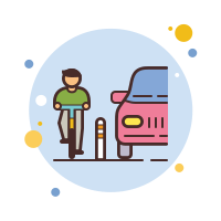 Protected Bike Lane icon