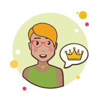 Short Blond Hair Girl Crown icon