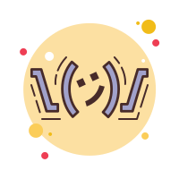 Shrug Emoticon icon