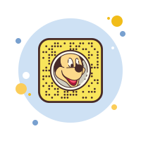 Snapchat Mickey Mouse icon