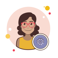 System administrator female icon