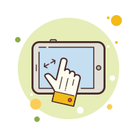 Tablet Zoom icon