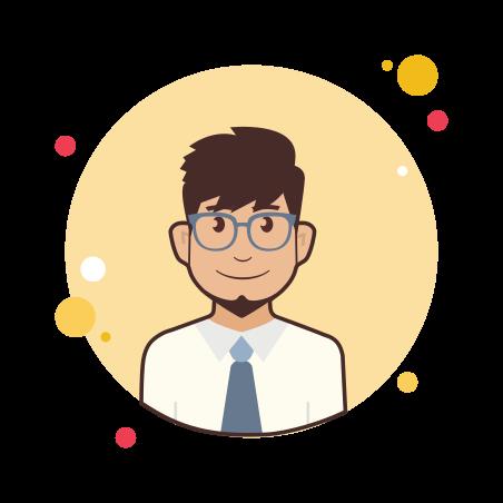 Administrator Male icon in Circle Bubbles