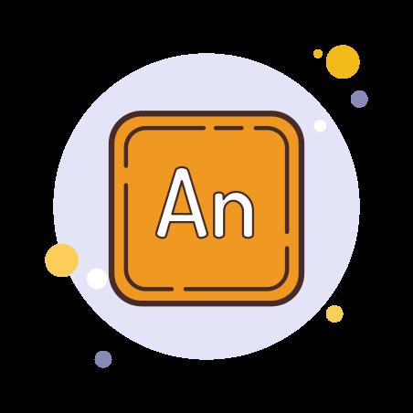 Adobe Animate icon in Circle Bubbles
