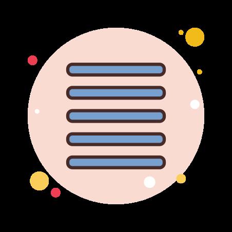 Align Justify icon in Circle Bubbles