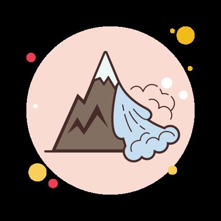 Avalanche icon in Circle Bubbles