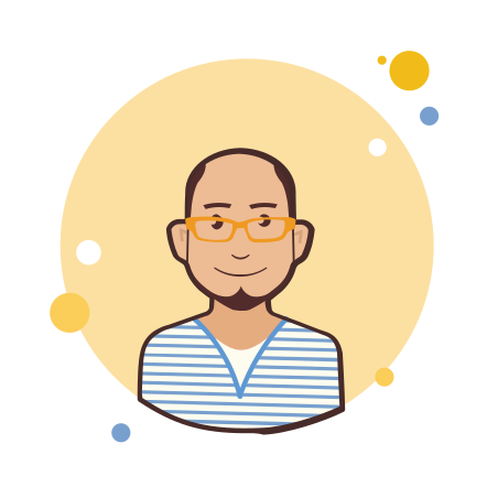 Bald Man in Yellow Glasses icon