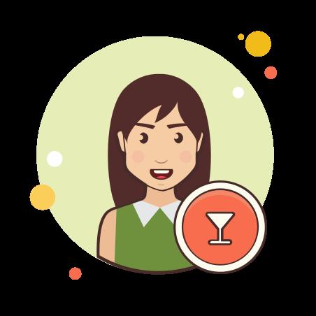 Bartender female icon