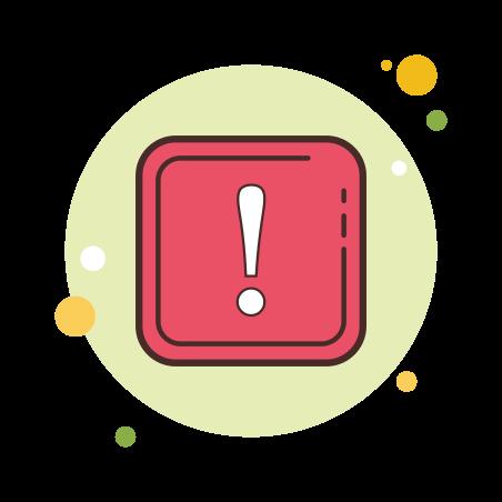 Box Important icon in Circle Bubbles