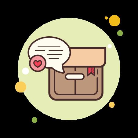 Box icon in Circle Bubbles