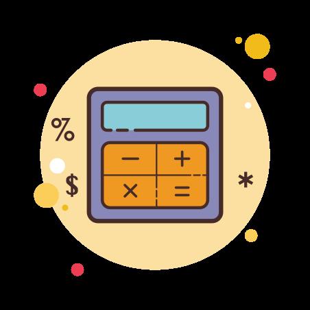 Calculator icon in Circle Bubbles
