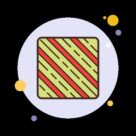 Patrón de bastón de caramelo icon
