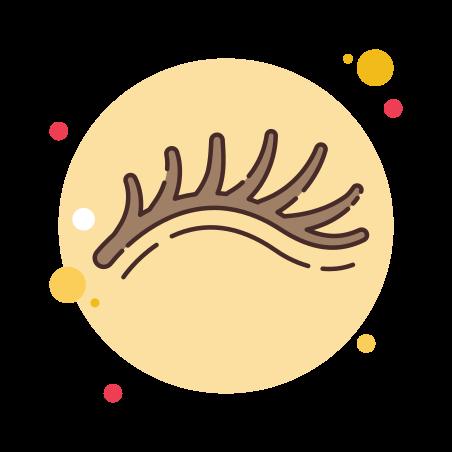 Eyelash icon in Circle Bubbles