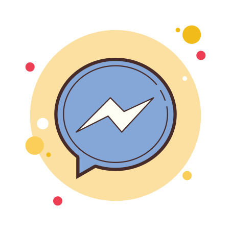 Facebook Messenger icon in Circle Bubbles