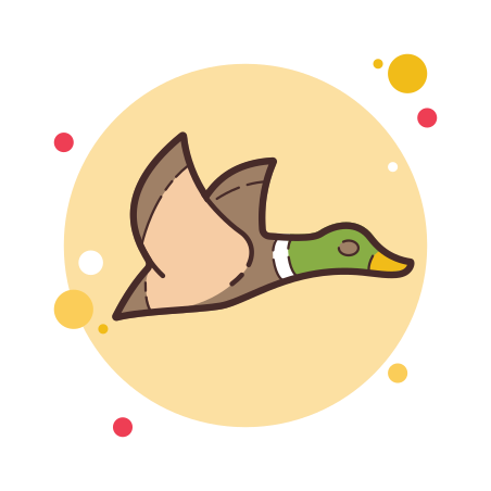 Flying Duck icon in Circle Bubbles