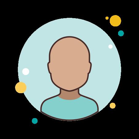 Customer icon in Circle Bubbles