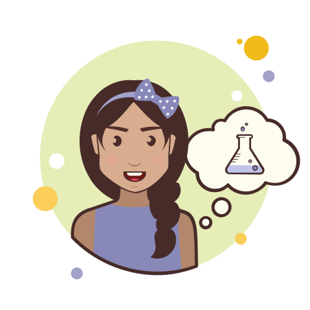 Girl With Chemical Test Tube icon