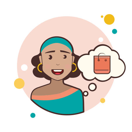 Girl With Shopping Bag icon
