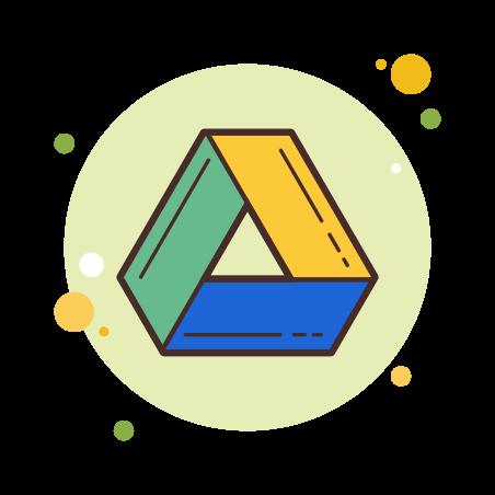 Google Drive icon in Circle Bubbles