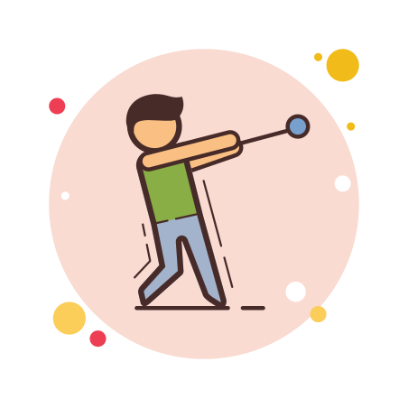 Hammer Throw icon in Circle Bubbles