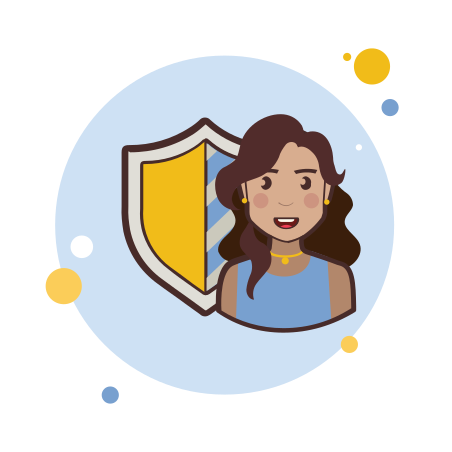 Lady With a Security Shield icon