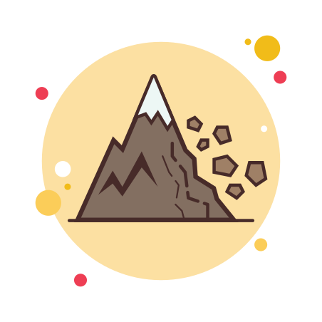Landslide icon in Circle Bubbles