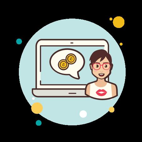 Laptop Coins icon
