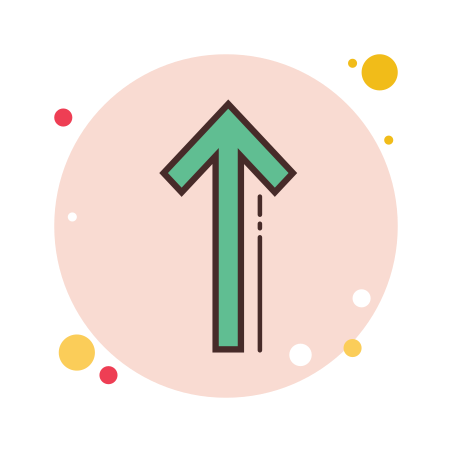 긴 화살표 위로 icon
