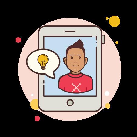 Man Ipad Idea icon