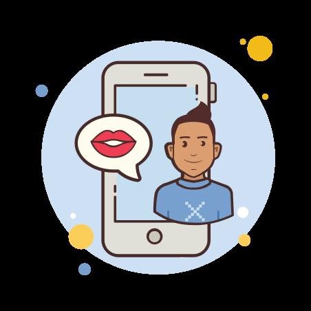 Man Phone Kiss icon