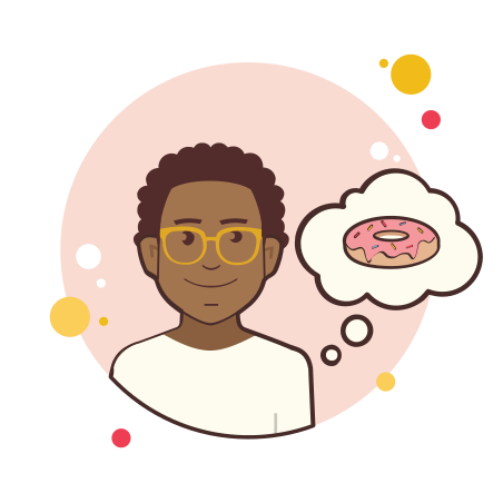 Man With Donut icon