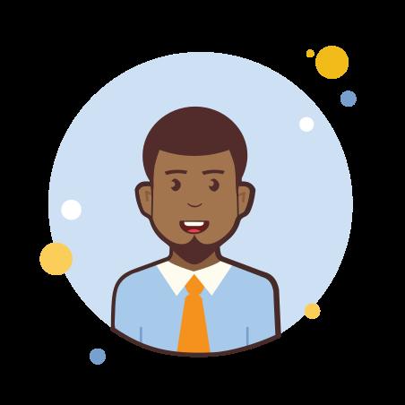 Man With Orange Tie icon