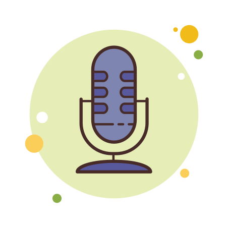 Microphone icon in Circle Bubbles