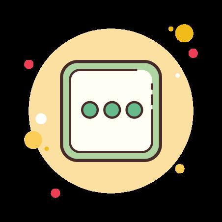 More icon in Circle Bubbles