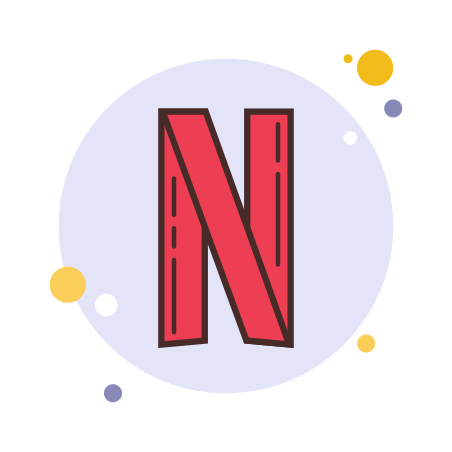 Netflix icon in Circle Bubbles