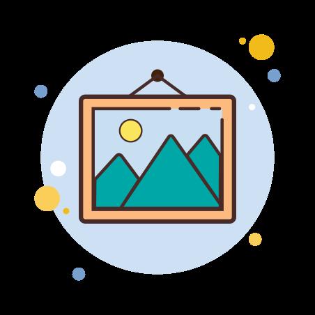 Picture icon in Circle Bubbles