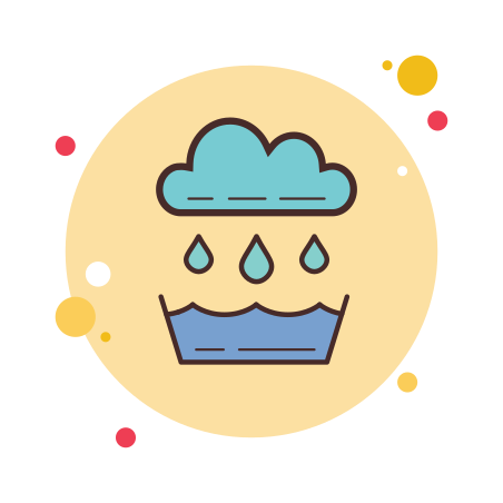 Rainwater Catchment icon in Circle Bubbles