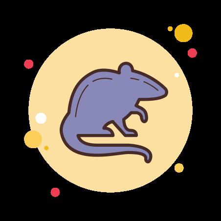 Rat Silhouette icon in Circle Bubbles