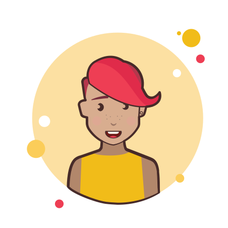 Red Short Hair Lady in Yellow Shirt icon