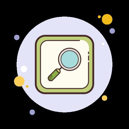 Search icon in Circle Bubbles