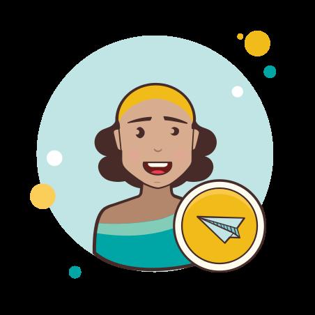 Send message female icon