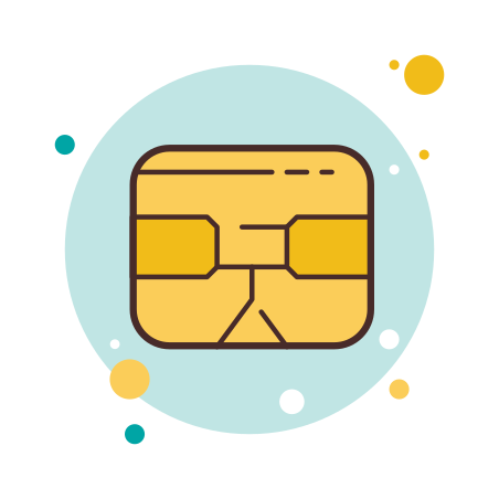 Chip Card Icon - Free Download, PNG and Vector