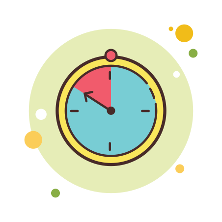 Timer icon in Circle Bubbles
