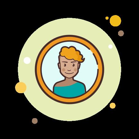 Female Profile icon in Circle Bubbles