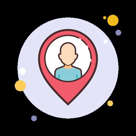 User Location icon in Circle Bubbles