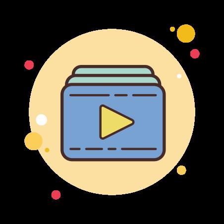 비디오 재생 목록 icon